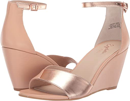Nude/Rose Gold Leather