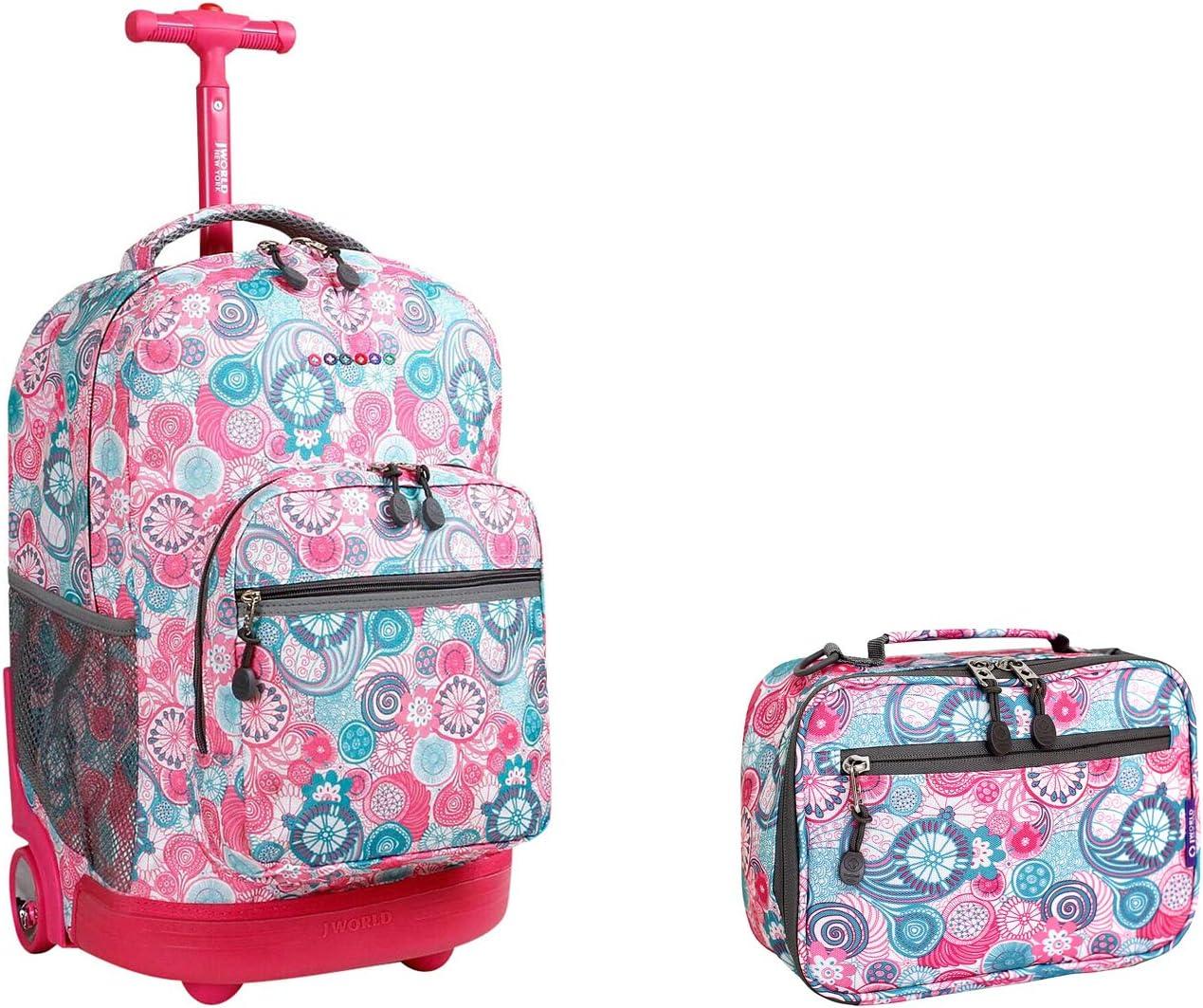 J World New York Sunrise Indefinitely Rolling Corey Backpack Lunch bag Finally popular brand Set