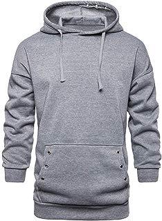 Beautyfine Hoodie for Men, Long Sleeve Hooded Sweatshirt Pocket Outwear Tops Blouse Autumn Winter