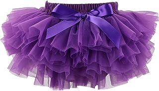 Slowera Baby Girls Soft Tutu Skirt (Skorts) 0 to 36 Months (M: 6-12 Months, Purple)