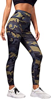 SweatyRocks Women's Stretchy Print Workout Leggings High Waist Yoga Pants