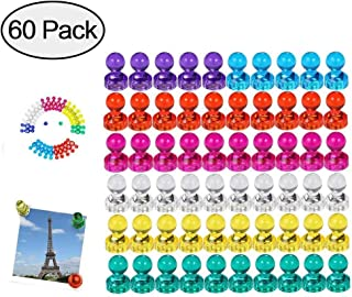 Wukong 60 Piezas Color Strong Imanes de nevera Whiteboard Magnets Magnetic Push Pins para mapa, oficina, pizarra, refrigerador, mapa y calendario