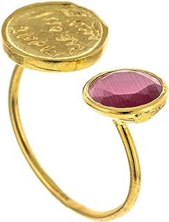 | Anillo en Plata de Ley 925 bañada en Oro. Diseño Denario Rosa de Francia Oro