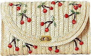 Straw Crossbody Bag Womens Weave Shoulder Bag Summer Beach Purse and Handbags