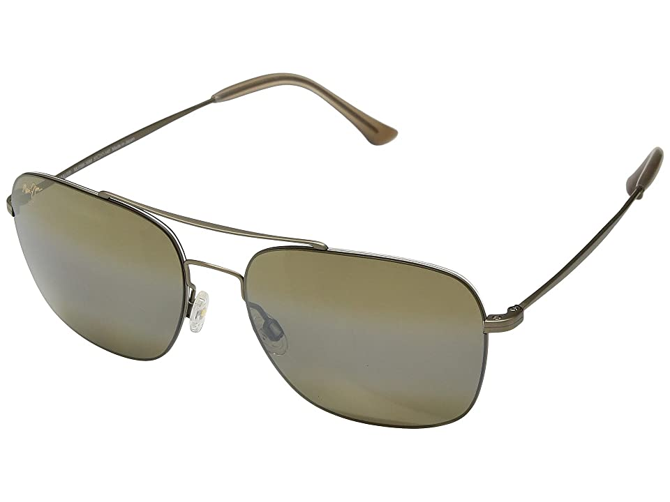 Maui Jim Lava Tube (Matte Gold/HCL Bronze) Athletic Performance Sport Sunglasses