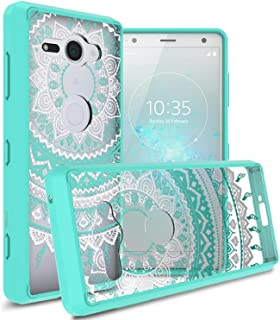 Sony Xperia XZ2 Compact Case cover, coverON, Clear Back Panel, Teal Mandala Design