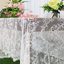 Lace-Tablecloth-Rectangular White Lace Table Cloth 5 Pack Floral Lace Tablecloth 60x120-Inch Rectangle Lace Table Clothes Lace Overlay Tablecloth Shower Tablecloth Lace Table Clothes (5, 005-White)