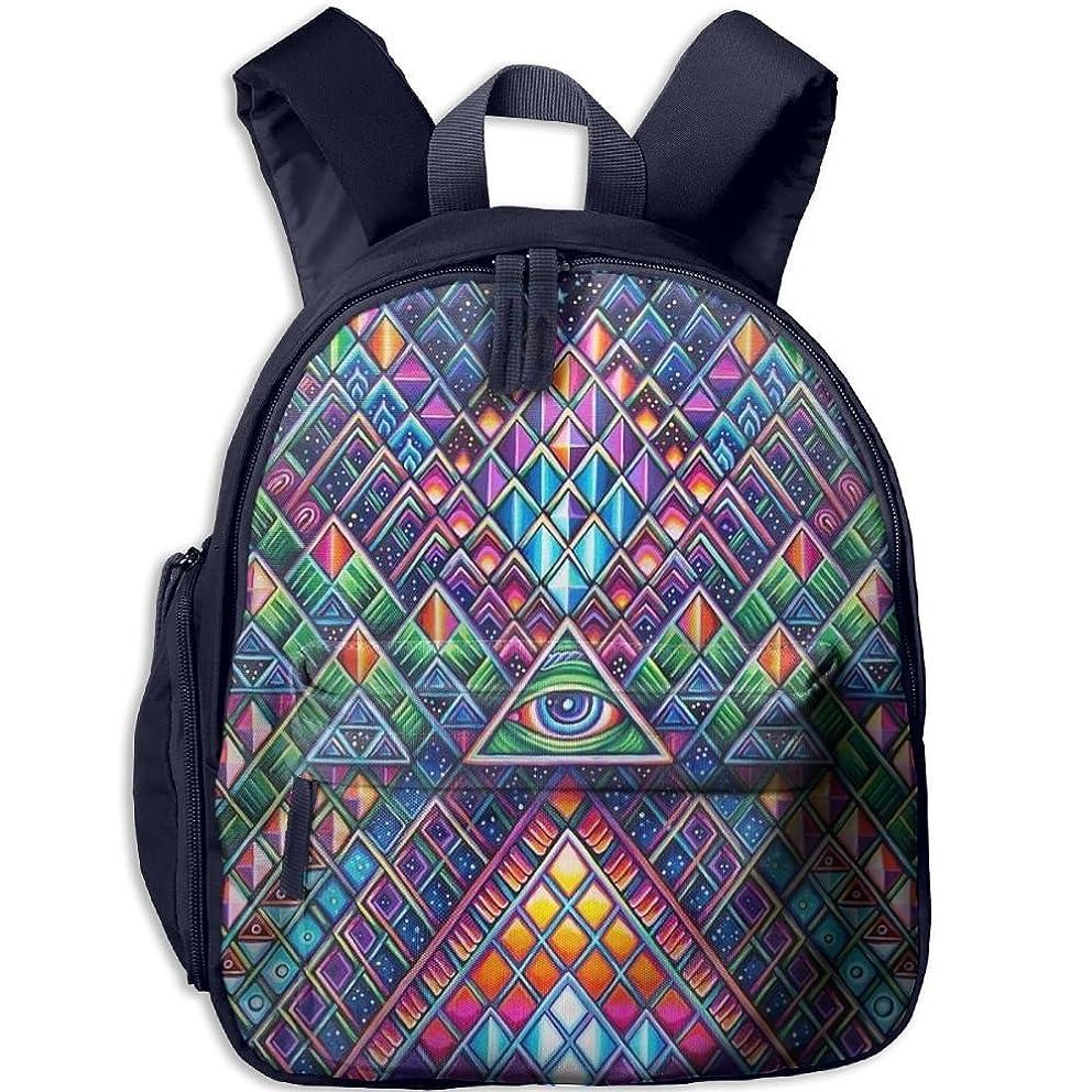 Geometry Triangle Myth Eye Children Oxford Cloth Book Bag For School