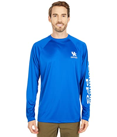 Columbia College Kentucky Wildcats Terminal Tackletm Long Sleeve Shirt (Azul/White) Men