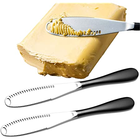 2 PCS Butter Knife for Cold Butter Stainless Steel Butter Knife Spreader 3 in 1 Kitchen Gadgets and Tools Spreader Knife Multi-function Butter Knife