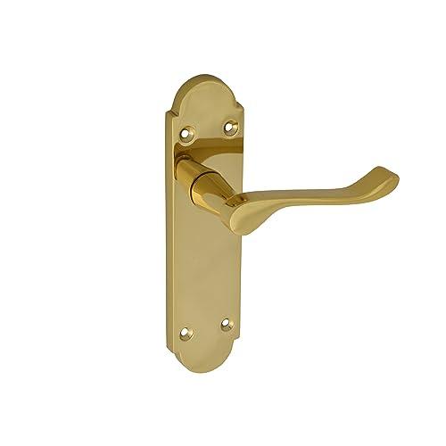 Epsom Internal MODERN Scroll Door Handles Stylish Bathroom Sets Chrome D15
