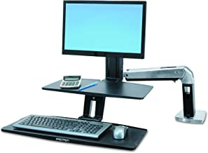 Ergotron WorkFit-A with Suspended Keyboard, Single LD (24-390-026)