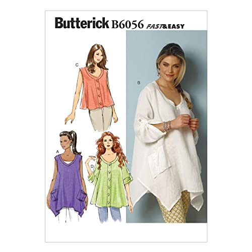 a9691bc4d74 BUTTERICK PATTERNS B6056 Misses  Top Sewing Template
