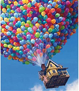 Shayee 5D Diamond Painting by Number Kits for Adults, Hot Air Balloon Scenery Paint with Diamonds Arts Full Drill Canvas f...