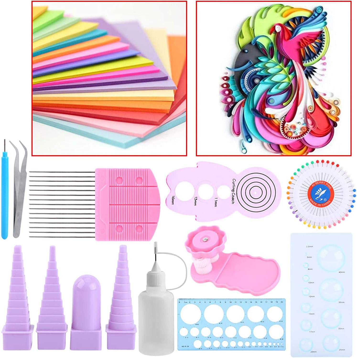 Durable Sturdy Quilling Crimper Tool Slotted Paper Quilling Tool