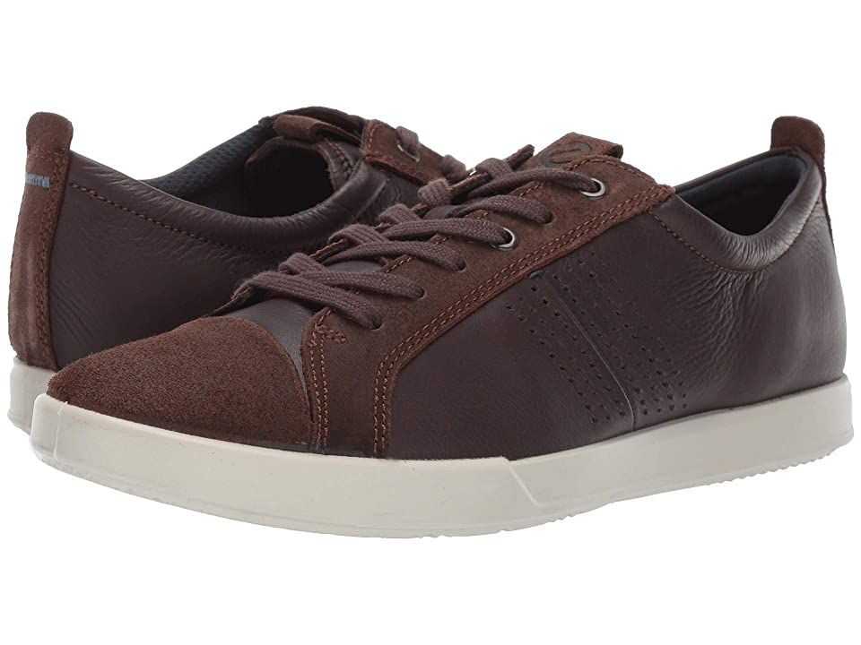 ECCO Collin 2.0 Trend Sneaker (Coffee Suede/Coffee Leather) Men