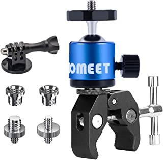 Homeet Super Morsetto Clamp con Teste Treppiedi Supporto Pinza Fotocamera Granchio Clip Rotazione a 360° per Monitor / Fla...