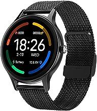 Mannen slimme horloges, vrouwen fitness tracker horloges, met slaapmonitor, 1.09 full touch screen ip67 waterdichte stappe...