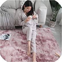 Living Room Long Hair Washable Carpet Encryption Thickening Mat Soft and Comfortable Blanket Mottled Tie Dyed Gradient Rug,3,50Cm X 80Cm