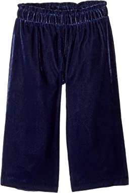 Velvet Wide-Leg Pants (Toddler/Little Kids/Big Kids)