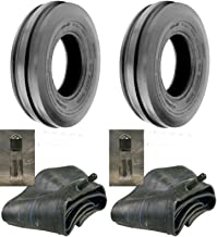 ALL/SAM LOT of Two (2) 7.50-16 7.50X16 750-16 Tri Rib (3 Rib) F-2 Tires with Tubes 8 PLY Rated