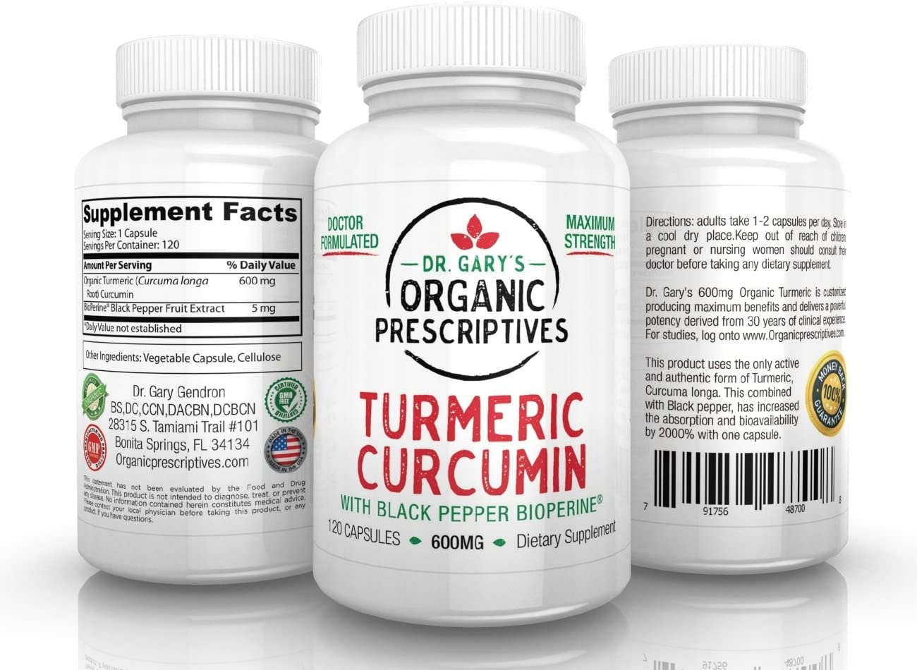 Latest item Dr. Gary's Organic Curcumin Turmeric OFFicial mail order Prescriptives