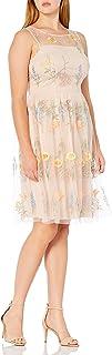فستان حريمي برقبة وهمية من Jessica Howard مطرز