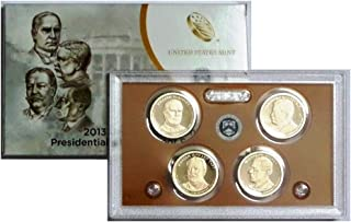 2013 S Presidential 4-coin Proof Set w/Box & COA Proof