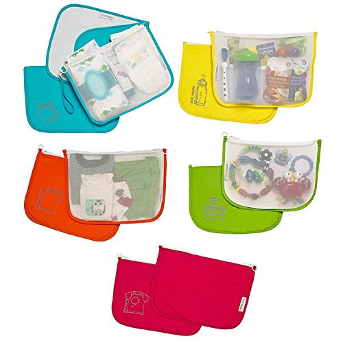8df5af14b02 Diaper Bag Organizer Pouches by MOTHER LOAD a 5-pc Set for Diapers, Wet
