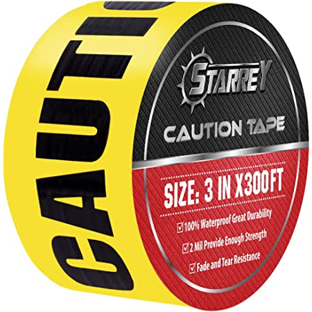 Swanson BT20CAU3 3-Inch by 200-Feet 3-MIL Barricade Tape Caution