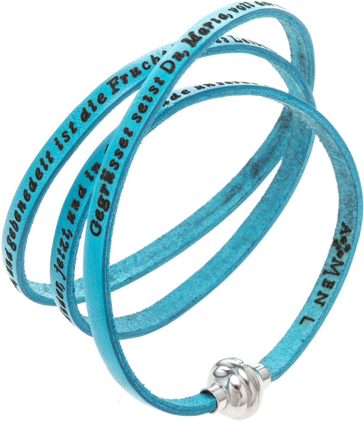 Amen Bracelet SEAL limited product in Turquoise Leather Hail Surprise price GER 23.64 cm 60 Mary i