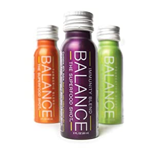 Daily Superfood Variety Pack - Green Smoothie, Immunity Blend & Ginger Turmeric Shot - 1/2 Day Organic Fruits, Root Vegetables, Kale, Acai & Elderberry Too Vegan & Gluten Free (6 Pack)