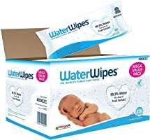 Water Wipes Purest Baby Wipes Sensitive Skin 60 Counts x Pack of 12 (720 Wipes)