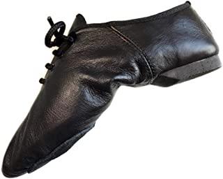 Jazz Dance Shoes Modern Stage Shoes, Rubber Split Sole, Pure Leather Jazz Shoes (See Size Guide in Pictures)