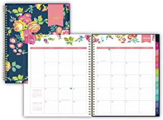 Blue Sky Day Designer Cyo Weekly/Monthly Planner, 8 1/2 X 11, Navy/Floral, 2017-2018
