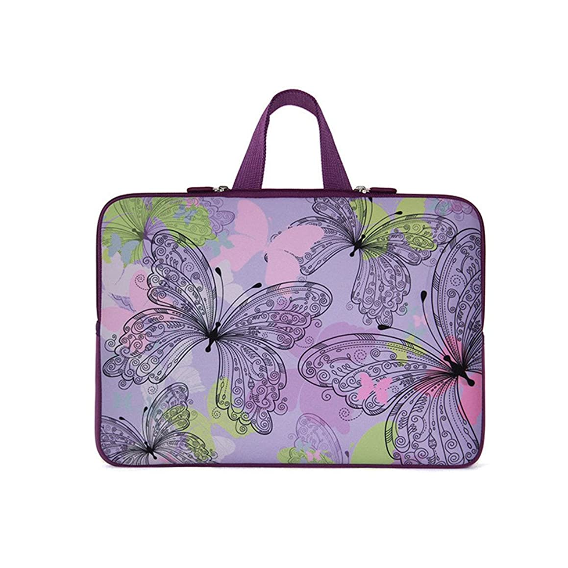 Fashion Ultra-light Waterproof Anti-Shock Neoprene Unique style 9.7 10.1 10.6 inch Netbook/ipad/iPad air/Laptop/Computer Briefcase Pouch Sleeve bag Carrying Case Cover Tote Handle bags(Butterfly)