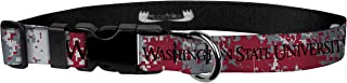 Moose Pet Wear Dog Collar – Washington State University Cougars Adjustable Pet Collars, Made in the USA – 1 Inch Wide