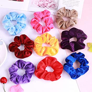 Primrose Hair Scrunchie material for hair floral watercolor hair scrunchie hair accessory