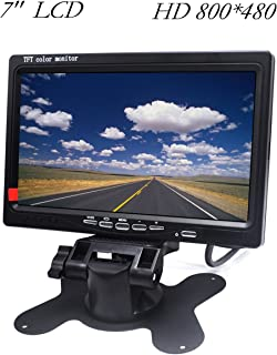"HD Car Monitor Padarsey 7"" HD 800×480 LED Backlight TFT LCD Monitor for Car Rearview Cameras, Car DVD, Serveillance Camera..."