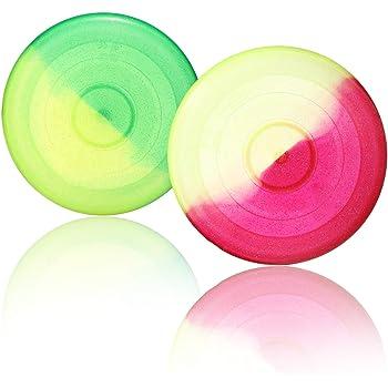 SchwabMarken 10 Frisbee Disc//Frisbees//Discos para lanzar en colores mezclados; /¡No son aptos como frisbees para perros!