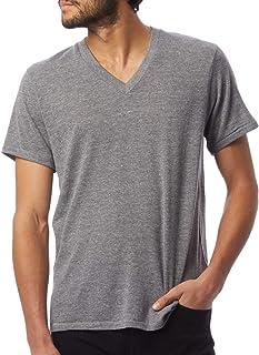 Alternative Gray Mens Size Medium M V Neck Short-Sleeve Tee T-Shirt