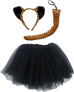 Kids Teen Adult Plus 2-3 Pc Tutu Skirt, Ears, Tail Headband Costume Halloween Outfit