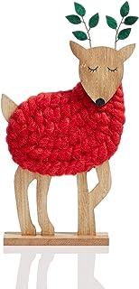 Decoração de Natal com cervo de lã Holiday Lane