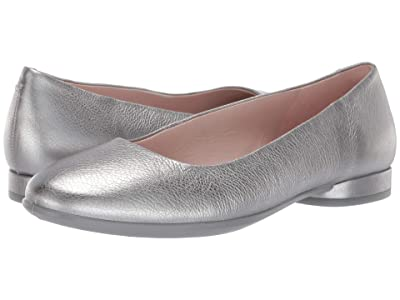 ECCO Anine Ballerina (Alusilver Cow Leather) Women