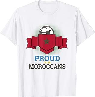 Morocco World Soccer Team Flag Men Women Youth T Shirt
