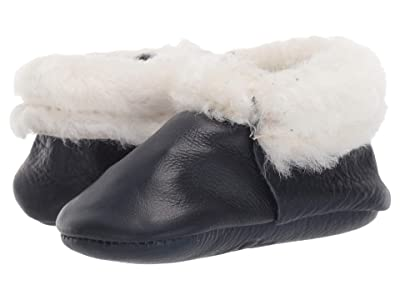 Freshly Picked Navy Shearling Moccasin (Infant/Toddler) (Navy) Kid