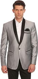 Men's One Button Shawl Collar Party Black Blazer Coat- Three Colors,