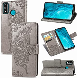 CHENCHUAN Case Cover For Huawei Honor 9X Lite Butterfly Love Flower Embossed Horizontal Flip Leather Case with Bracket/Car...