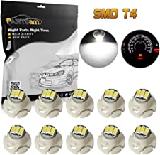Partsam 10PCS White T4.2 Neo Wedge Instrument Panel LED Light Gauge Cluster Bulbs Shifter Radio Switch Indicator Lamp