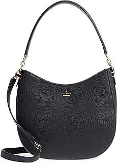 Oakwood Street Lora Pebble Leather Shoulder bag, Black